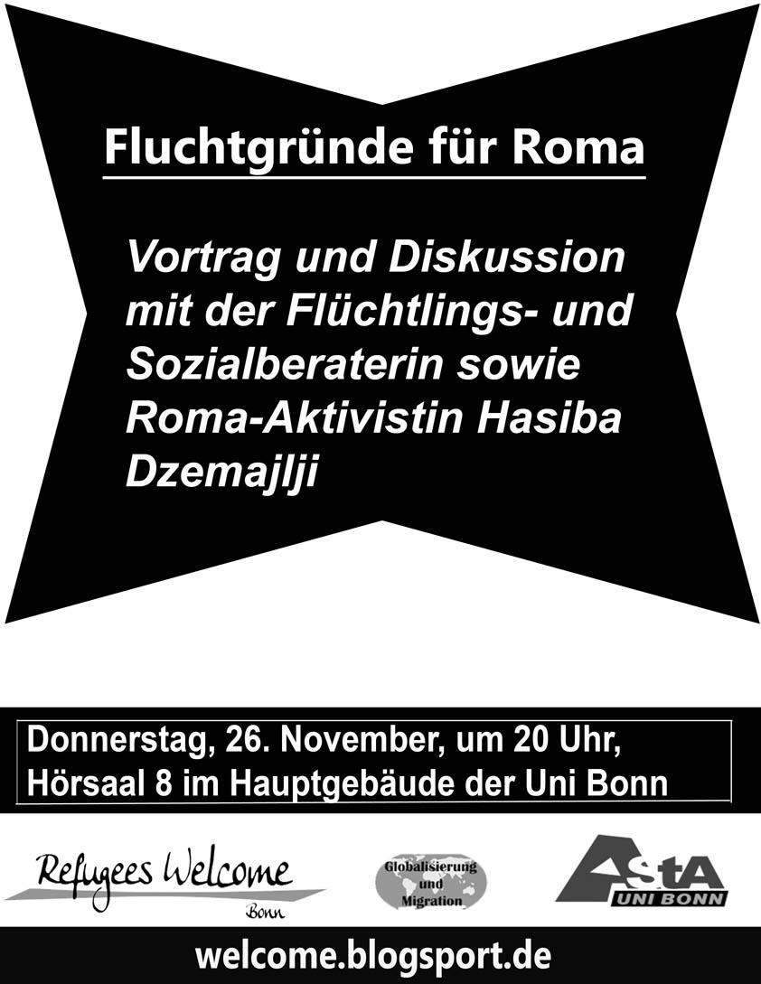 Vortrag: Fluchtgründe für Roma « Refugees Welcome Bonn e.V.