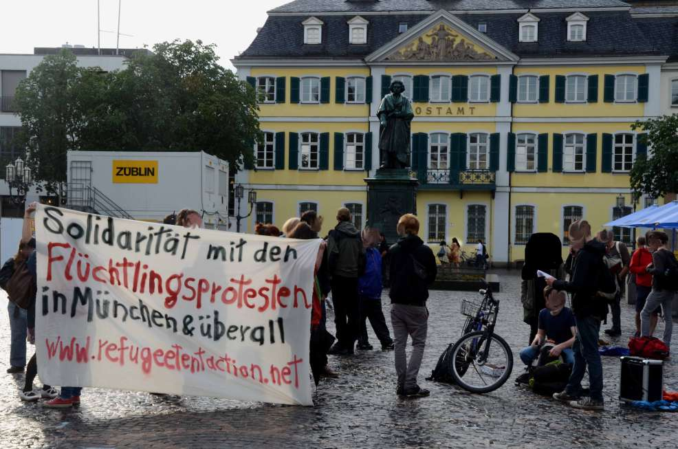 Spontan-Demo auf dem Münsterplatz